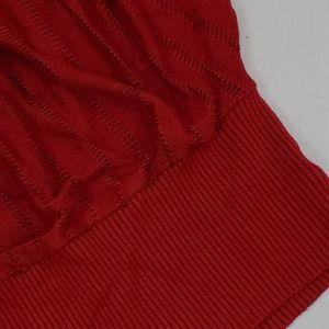 Twenty One Sweaters - Twenty One Red Knit Top 3/4 Dolman Sleeve Size M